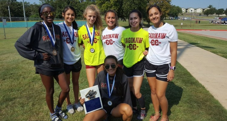 Photo for The Lady Rough Rider Cross Country Team Placed 2nd At Brewer Bear Invitational